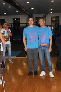 Volfango Rizzi e Matteo Zoldan. A sinistra si vede Matteo Iacone, uno degli ultimi chessboxer ad aggregarsi alla FISP.
