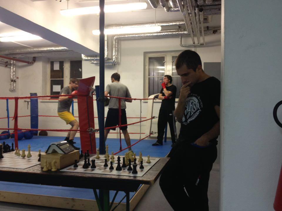 Gianpiero presso il Chess Boxing Club Berlin.