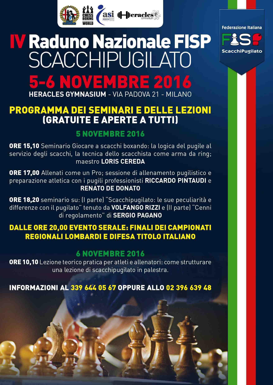 IV Raduno Nazionale FISP: il programma del 5 e 6 novembre.