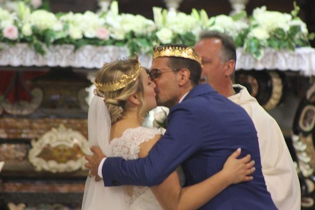 Diana Maftei e Gabriele Ditto oggi sposi.